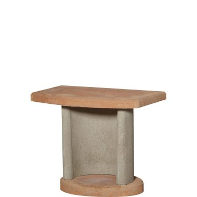 Buschbeck Masonry Grey Side Table