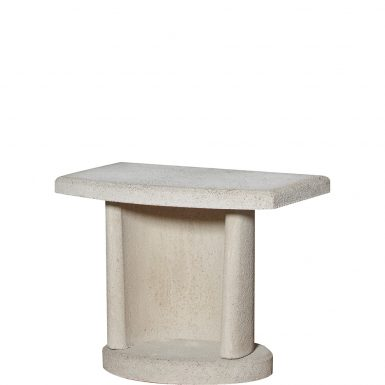 Buschbeck Masonry White Side Table